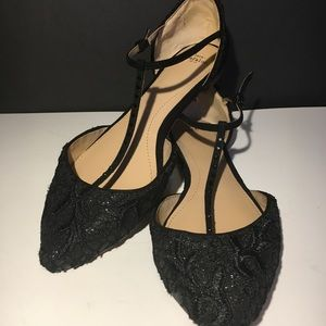 ZARA EMBROIDERED FLAT SHOES